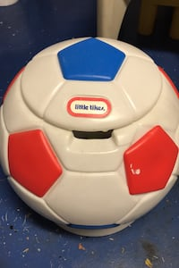 Little Tikes soccer ball storage