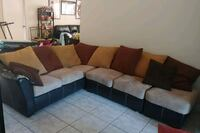brown and black sectional sofa Coral Springs, 33076