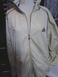 white and black Adidas zip-up jacket Vancouver, V6A 4G8