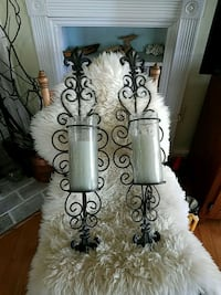 two white and black candle holders Culpeper, 22701