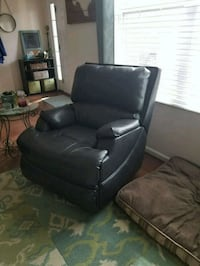black leather sofa chair with ottoman Durham, 27703