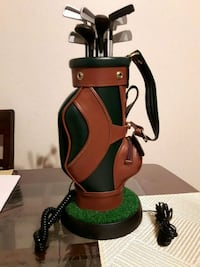 "LEATHER ""GOLF BAG TELEPHONE"""