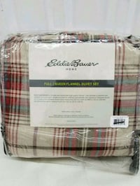 EddieBaurer Queen duvet cover set *new*