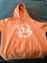 orange and white pullover hoodie Enid, 73701