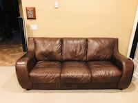 All leather Sofa and Ottoman Surrey, V3W 1S2