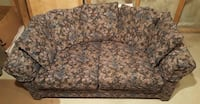 Beautiful black floral couch Calgary, T2B 1V8