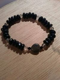 Black beaded bracelet Clyde, 28721