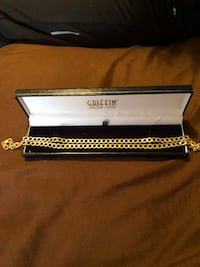 Yellow gold Miami  Cuban link Bracelet and chain