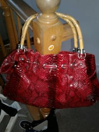 Red with bamboo handles purse  2344 mi