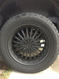 """Set of (4) 20"""" rims and tires"""