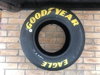 Autographed stock car racing slick tire