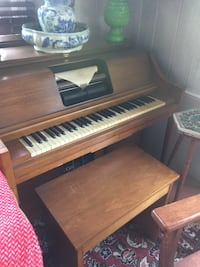 Brown and black upright piano Brightwaters, 11718