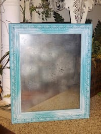 FIRM PRICE * Ornate Shabby Chic BOHO Frosted Turquoise Hazed Vintage Look Decor Mirror Oklahoma City, 73012