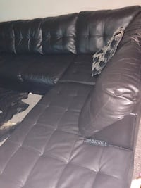 black leather 3-seat sofa Rockville, 20850