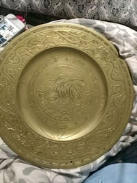 Centuries old brass charger,the Ming dynasty era  Tiburon, 94920