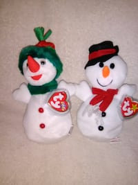 Snowball and Snowgirl Beanie Babies