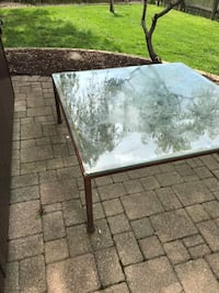 Free Glass and Copper table