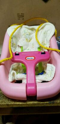 baby's pink and white Little Tikes swing chair Walnutport, 18088