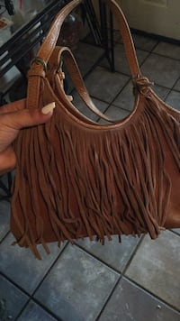 brown leather fringe crossbody bag Lubbock, 79414