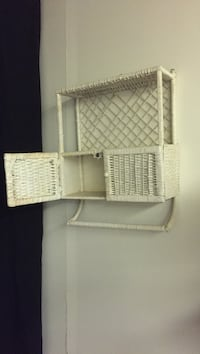 Wicker white wall mounted rack Lawrence, 01840