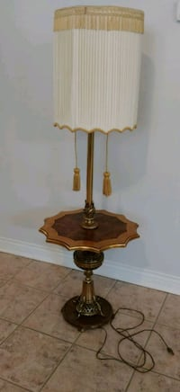 Vintage Unique Floor Lamp with Table and Tassels Hamilton, L9K 1H8