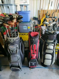 two black and red golf bags 800 mi