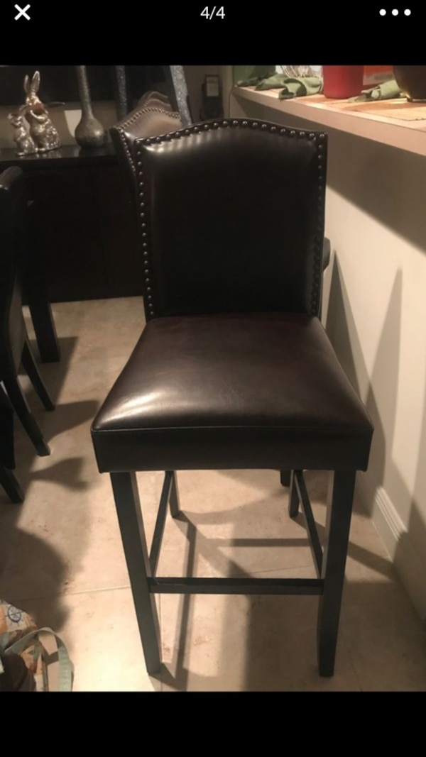 Remarkable Used 4 Leather Bar Stools For Sale In Roselle Letgo Machost Co Dining Chair Design Ideas Machostcouk
