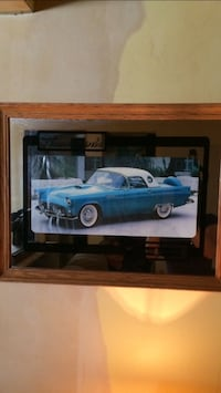 Vintage   Mirror picture of thunderbird car good condition