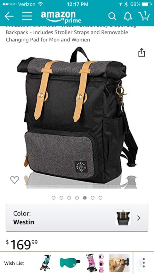 a1ad4acaead6 Used Product of the North unisex diaper bag for sale in Newark - letgo