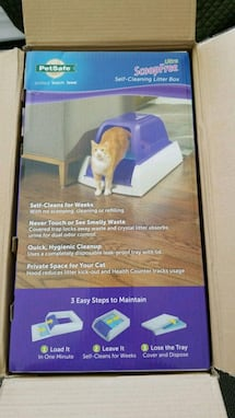 Brand new self cleaning litter box