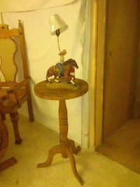 brown wooden base table lamp Calgary, T3J 1S7