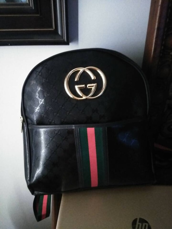 e05ac0d7e239 black and red Gucci leather backpack. HomeFashion and Accessories Royal  Palm Beach
