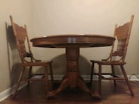 Antique oak table and 4 chairs Hazel Green