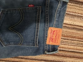 Blue levi strauss & co. denim bottoms