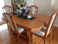 rectangular brown wooden table with four chairs dining set Fort Washington, 20744