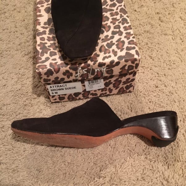 FS/NY French Soles Brown Suede Attract Size 8 ee3425c2-ce1d-4b19-9d0f-0e9af98def63