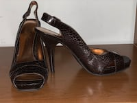 Brown Jessica Simpson open toe shoes size 9 Waldorf, 20602
