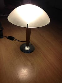 IKEA Lamp with a Frosted Glass Lampshade and Pine Stem Boston