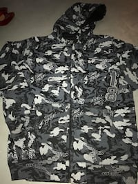 black and gray camouflage zip-up hoodie Edmonton, T5Z