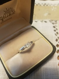 14k white gold diamond engagement ring size 7 Virginia Beach, 23462
