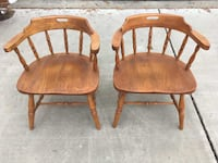 2 Wood Captain's Chairs PARKVILLE