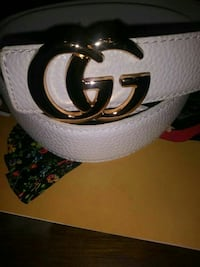 Double Gucci small buckle belt