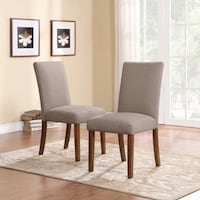brown wooden framed gray padded chair North Las Vegas