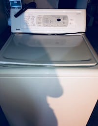 white top-load clothes washer Kenmore Calypso
