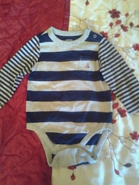 blue and gray striped long-sleeved onesie Anaheim, 92805
