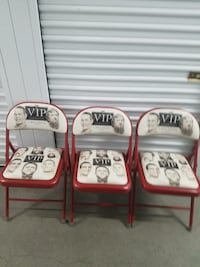 RARE 2014 WWE VIP EXPERIENCE FOLDING CHAIRS LOT OF 3. Lake Forest, 92618