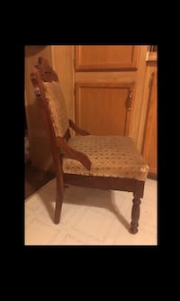 ANTIQUE Solid Carved Wood Victorian East Lake Parlor Chair Bear, 19701