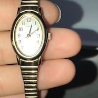 round silver analog watch with link bracelet Baton Rouge, 70816