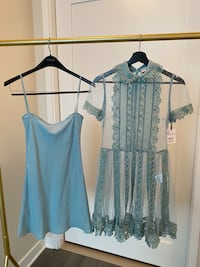 Valentino lace dress with inner silk dress.