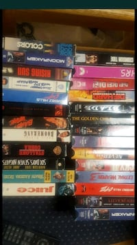 Dvds vhs and cassettes for sale 100$ everything. Boots are